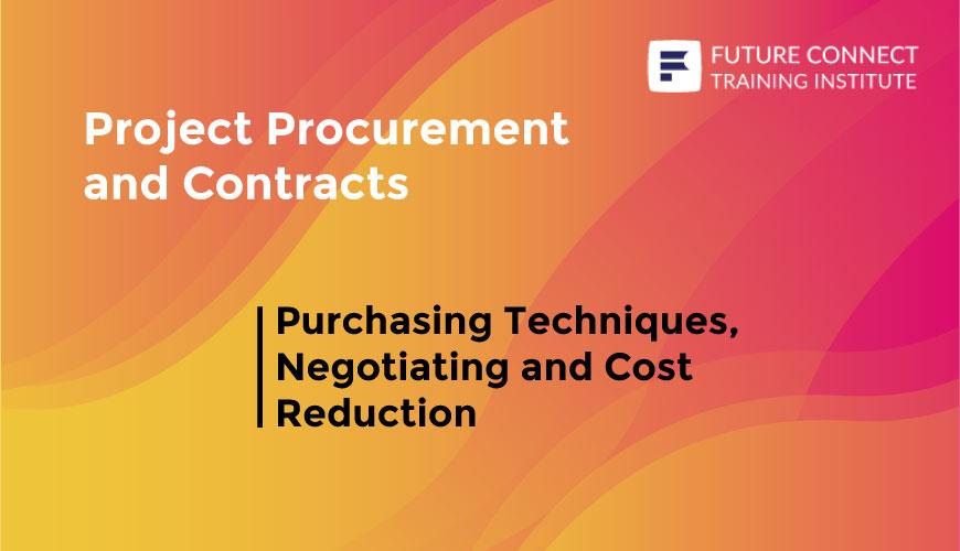 Purchasing Techniques, Negotiating