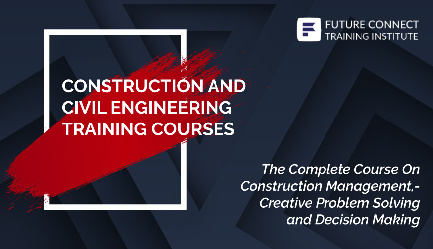 Course Description  The program is designed as an integrated series of lectures and case studies to provide an understanding of the concept of achieving construction, procedure and implementation of projects to meet the ever-changing needs of clients. It is designed to prepare participants to think systematically while managing the construction projects, its' procedure and implementation, by giving a hands-on training. Participants will also be able to understand the relationships between hard and soft skills required from conceptualization of project to running day-to-day implementation.  Course Objective  This course will tackle the areas related to problem solving, decision making, and communication skills and managing stress at work. In addition, it is expected to improve the participants' competencies and know-how in matters related to decision making and communication styles. At the end of this seminar, participants will have a better understanding and appreciation on how to communicate and manage daily stress and problems with employees  Course Outline  An overview of construction contract procurement systems  Dynamics of Contract, Management Responsibility – Clients, Consultants, Contractors and Authorities, Expectations of Clients, Consultants and End Users, Roles of parties, Project Liability Poor quality and its cost and effects in construction Decision Making and Thinking  Conceptual Framework of Thinking Skills and Decision Making.  Divergent and Convergent Thinking in Decision Making. Critical Constructive Thinking in Decision Making.  Leadership Management  Leadership and Teamwork in Practice Project Success and Failures Case Studies: Decision and Policy Making Project Management Fundamentals and Practice Construction Management Implementation – Putting it Together  Mitigation of Project Delay  Knowledge Management and Project Learning in Projects  Knowledge Management and Project Learning in Projects (cont'd) Project Learning and a Case Study: An Int