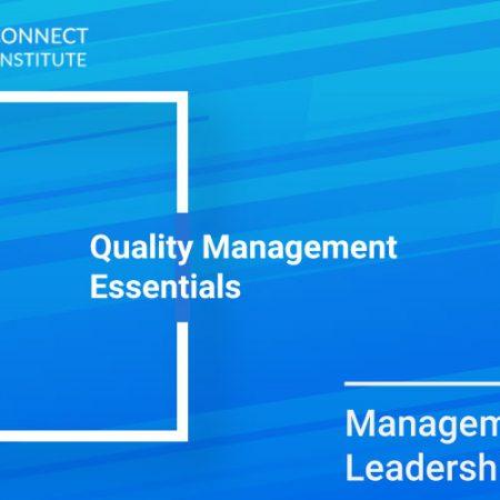 Quality Management Essentials Training